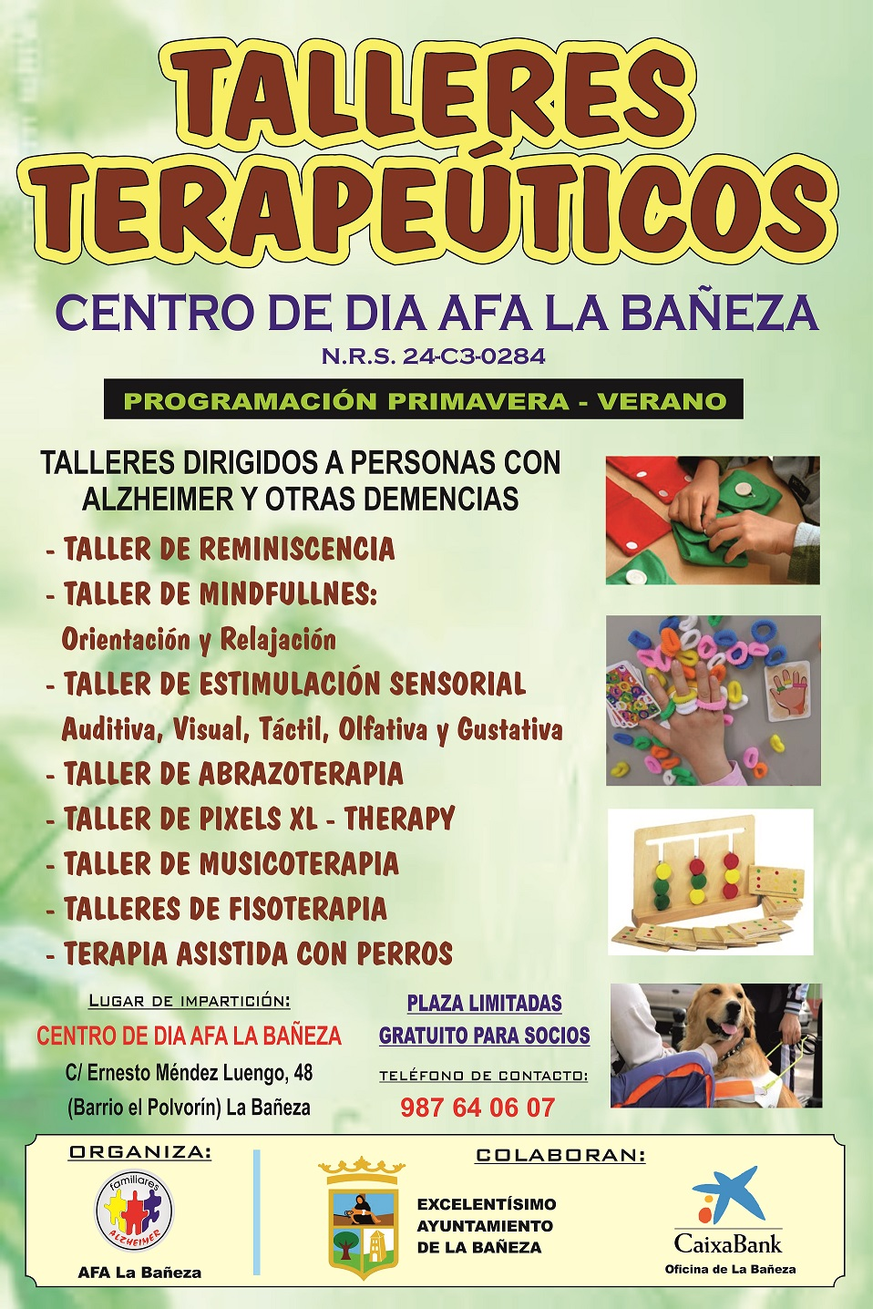 Cartel TalleresTerapeuticos